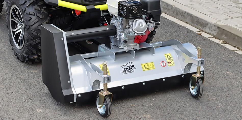 ATV Front-mount mulcher with Honda engine