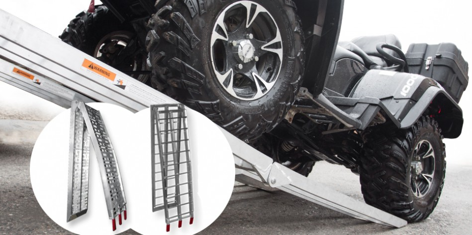 ATV/Moto arched folding aluminum ramps
