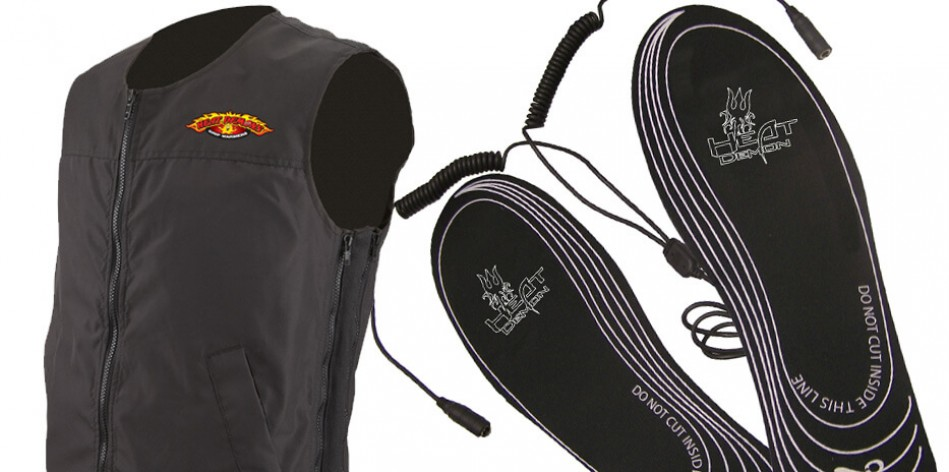 Heated boot warmers, heated apparel